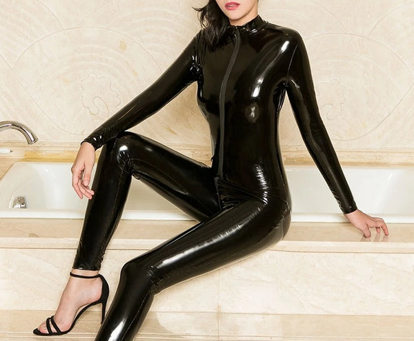 Wetlook Open Crotch Nightclub Bodysuit -  200001800 - ShaadiMagic