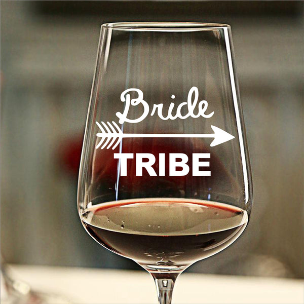 8pcs DIY Wedding Party Favor Bride Squad or Bride Tribe Stickers, Vinyl Waterproof Removable Bridal Party Wine Glass Sticker -  200001461 - ShaadiMagic