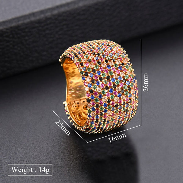 Luxury Cubic Zircon Wedding Ring -  100007323 - ShaadiMagic