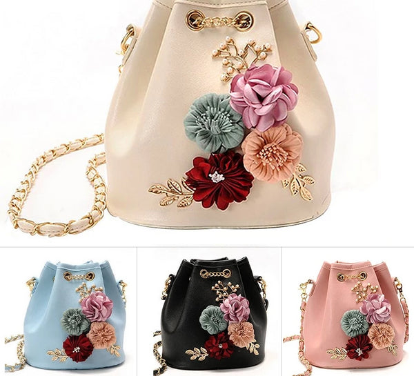 Handmade Flowers Bucket Bag -  100002856 - ShaadiMagic