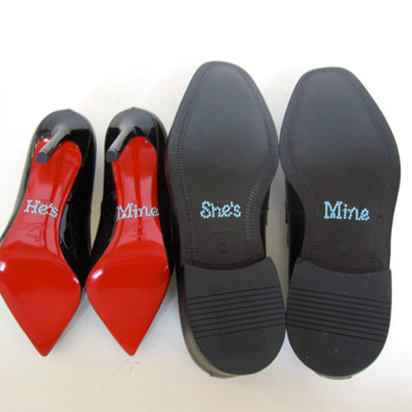 """She's Mine"" ""He's Mine"" Shoe Stickers -  200220143 - ShaadiMagic"