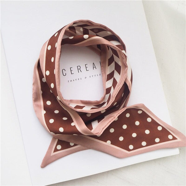Dotted Narrow Diagonal Strip Scarf -  200000399 - ShaadiMagic