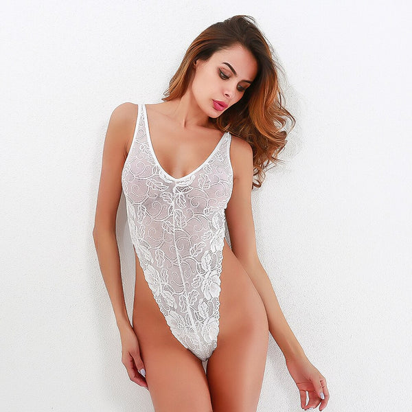 Transparent Mesh Thong Bodysuit -  200000362 - ShaadiMagic