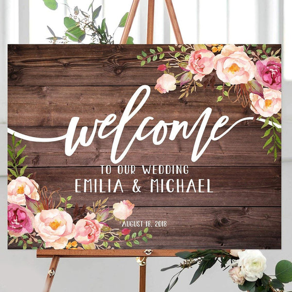 """Welcome to Our Wedding"" Sign Board -  200217148 - ShaadiMagic"