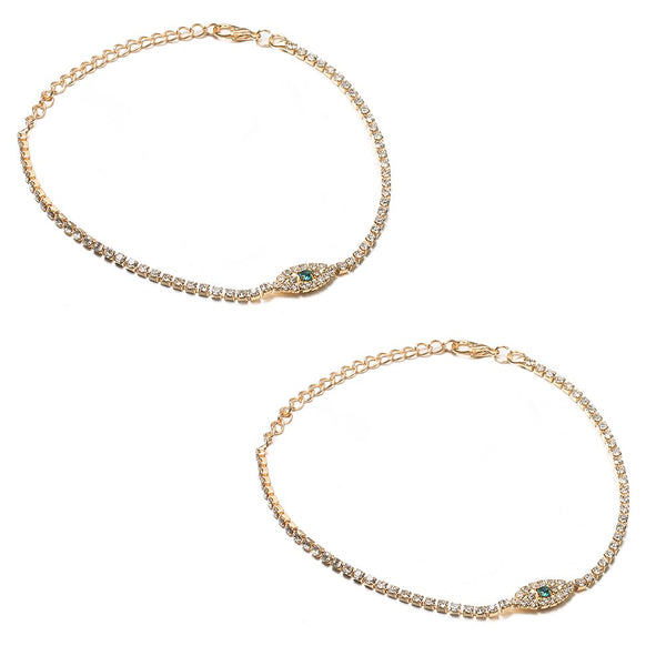 Fashion Evil Eye Crystal Anklet