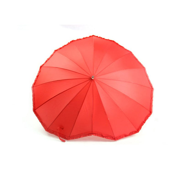 Red Heart Shape Love Umbrella -  100004777 - ShaadiMagic