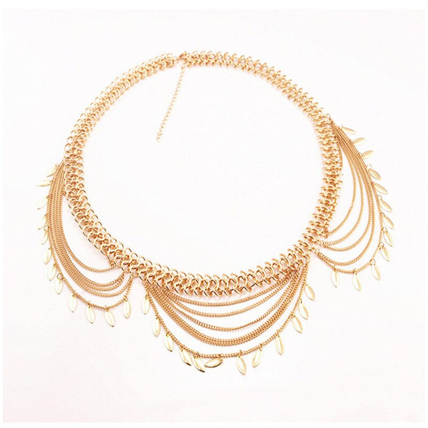 Silver/Gold Sequins Tassel Belly Chain -  100007299 - ShaadiMagic