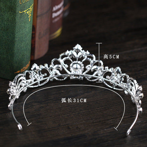 Bridal Pageant Crystal Rhinestone Headpiece -  100007319 - ShaadiMagic