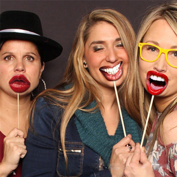 Funny Lip Mouth DIY Photo Booth Wedding Props -  200220143 - ShaadiMagic