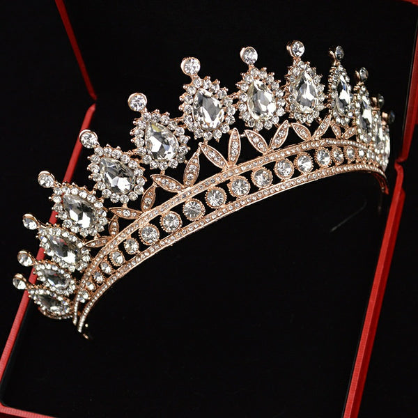 Crystal Beaded Headband Tiara -  100007319 - ShaadiMagic