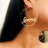 Baby & Femme Letter Big Circle Hoop Earrings -  200000170 - ShaadiMagic