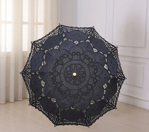 Sun Lace Parasol Embroidery Wedding Umbrella -  200000838 - ShaadiMagic