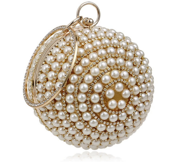 Handmade Pearl Beads Clutch Bag -  100002856 - ShaadiMagic