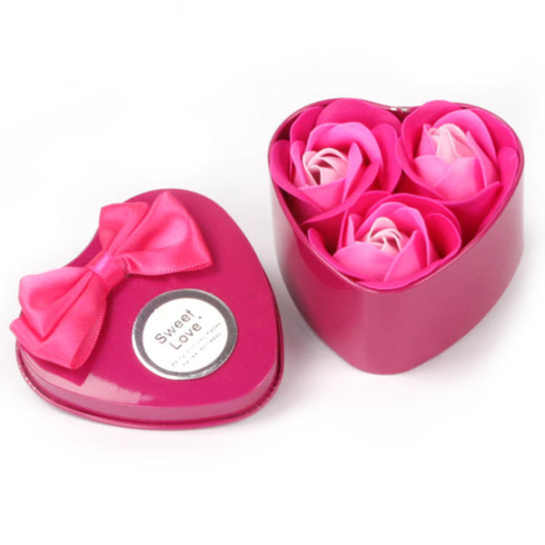 3 Pc. Rose Soap Flower Gift Box -  200222143 - ShaadiMagic