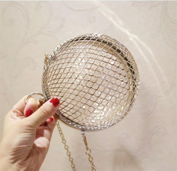 Metal Circular Hollow Out Wedding Bag -  100002856 - ShaadiMagic