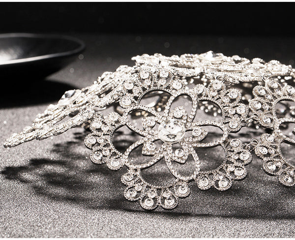 Vintage Silver Prom Pageant Round Crowns -  100007319 - ShaadiMagic