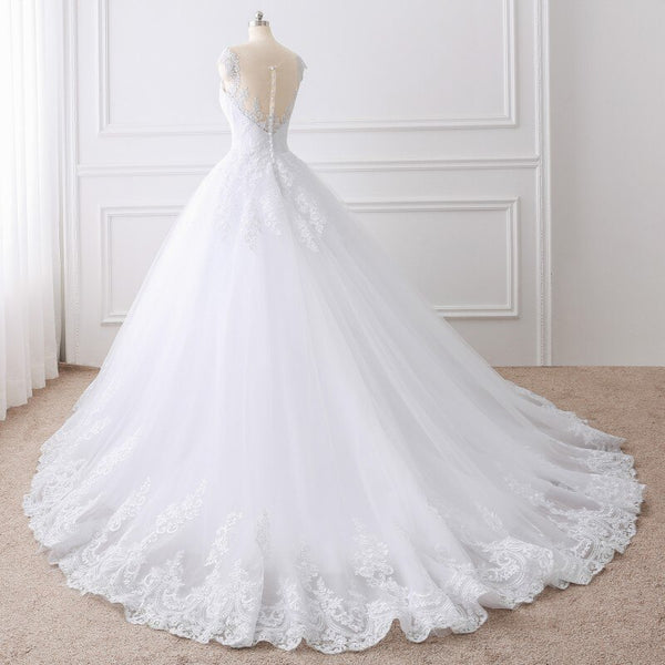 Princess Ball Gown Wedding Dress -  32005 - ShaadiMagic