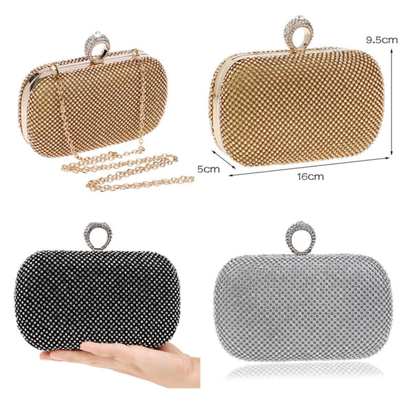 Evening Clutch Bag with Chain -  100002856 - ShaadiMagic