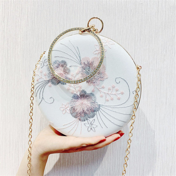 Round Shape Flower Evening Clutch Bag -  100002856 - ShaadiMagic
