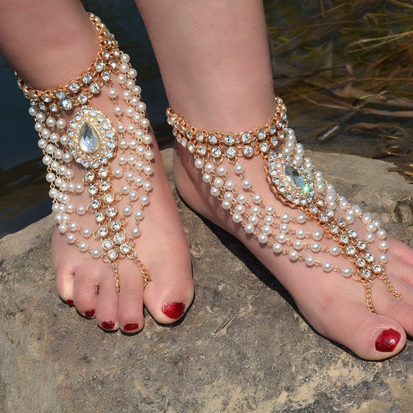 Barefoot Anklet Foot Jewelry -  200000141 - ShaadiMagic