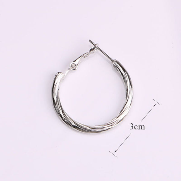 Trendy Round Small Hoop Earring