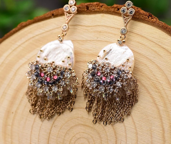 Handmade Pearl Drop Earrings -  200001692 - ShaadiMagic
