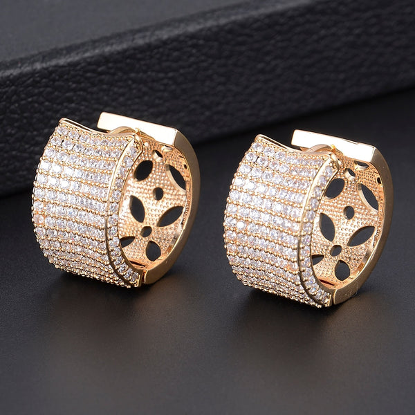 Trendy Hoop Cubic Zircon Wedding Earrings -  200000170 - ShaadiMagic