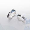 Flying Bird 3D Wave Couple Rings