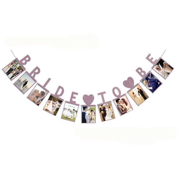 Bride To Be Paper Photo Garland -  200220143 - ShaadiMagic