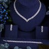 Clear Crystal Zircon Earrings & Necklace Wedding Set