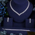 Clear Crystal Zircon Earrings & Necklace Wedding Set -  100007324 - ShaadiMagic