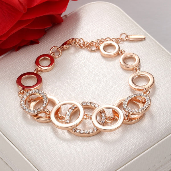 Crystal Paved Round Circle Wrist Bracelet -  200000147 - ShaadiMagic