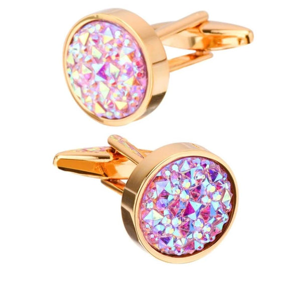 SAVOYSHI Luxury Colorful Stone Cufflinks For Mens Shirt Accessories High Quality Brand Round Cuff Buttons Wedding Gift Jewelry -  200000175 - ShaadiMagic