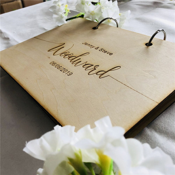 Modern Wedding Guest Book Wooden -  200254144 - ShaadiMagic