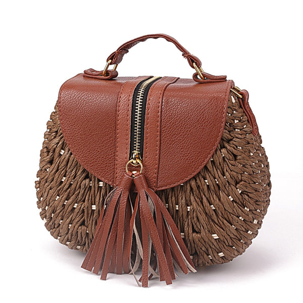 Tassel Straw Bohemian Shoulder Bag -  100002856 - ShaadiMagic