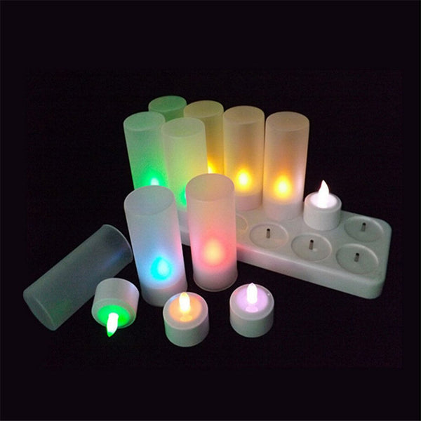 12 Pc. Flameless Remote Controlled Candles -  200003681 - ShaadiMagic