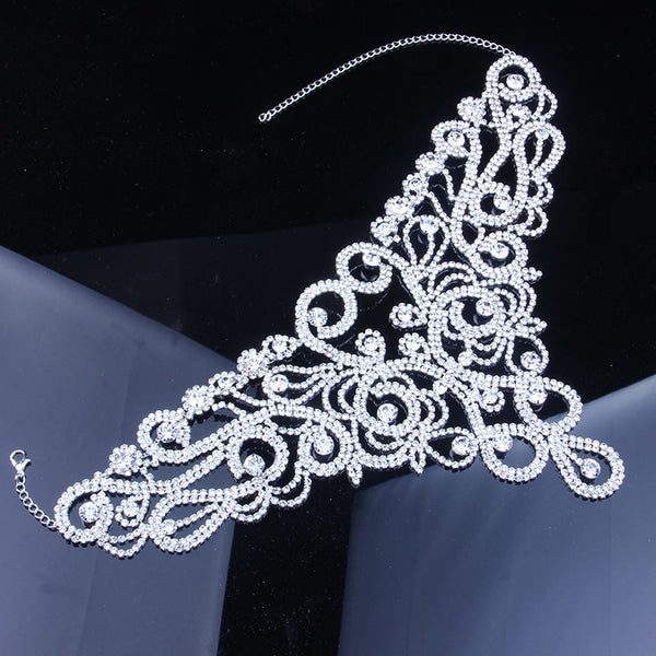Choker Statement Necklace Crystal Rhinestone -  200000162 - ShaadiMagic