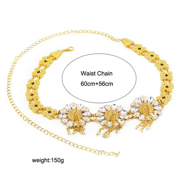 Gold Wedding Waist Chain -  100007299 - ShaadiMagic