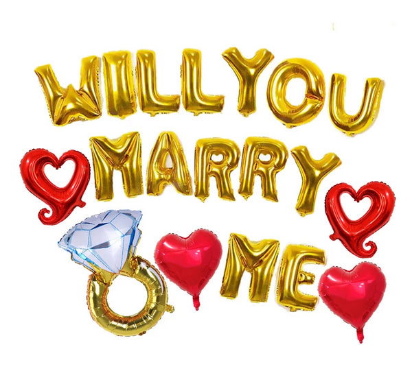 Will You Marry Me Proposal Balloons -  200218144 - ShaadiMagic