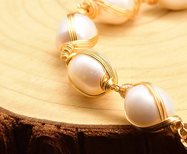 Handmade Natural Fresh Water Pearl Designer Bangle -  200001687 - ShaadiMagic