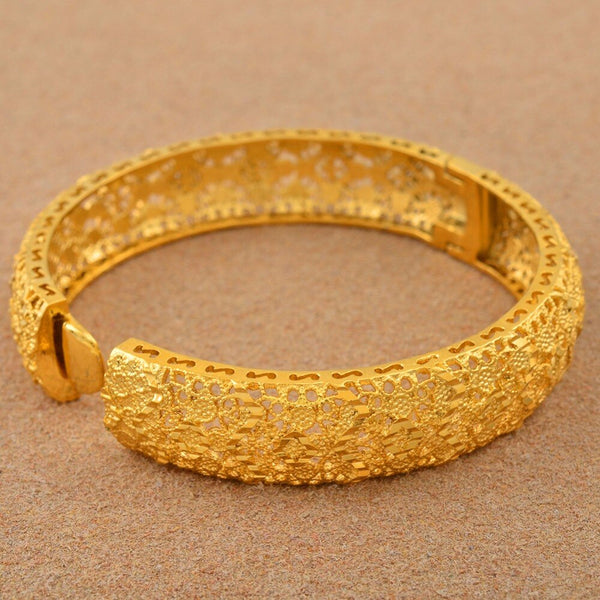 4 Pc. Gold Color Bangles -  200000146 - ShaadiMagic