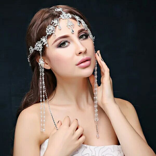 Rhinestone Pageant Crown Head Jewelry -  100007319 - ShaadiMagic