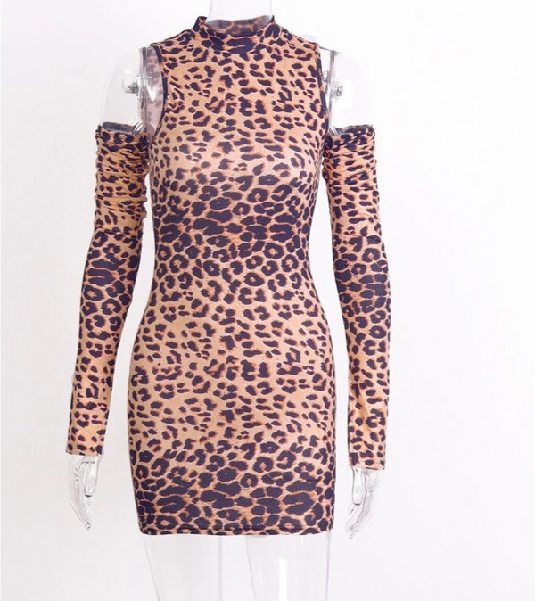 Leopard Sexy Body Mini Dress -  200000347 - ShaadiMagic