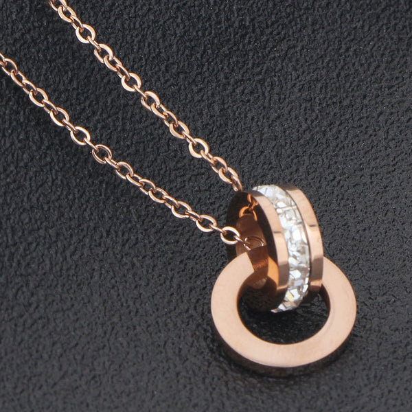 Roman Earring & Necklace Rose Gold