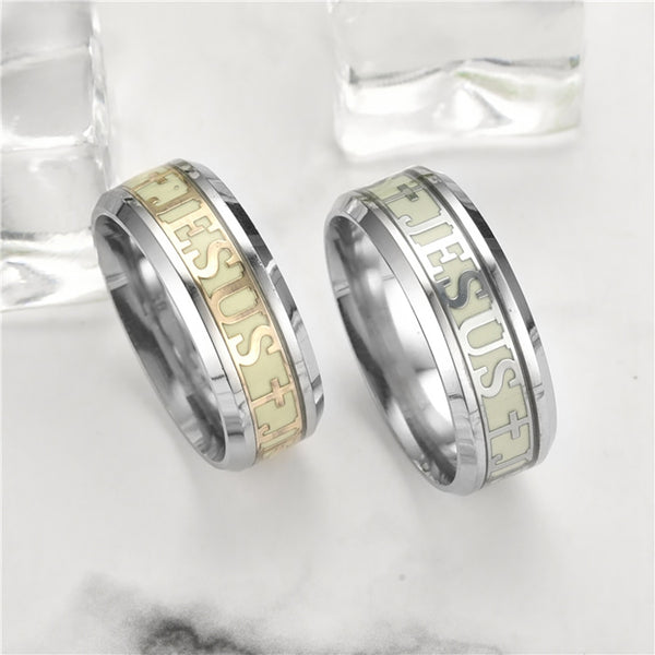 Luminous Jesus Christ Ring Stainless -  [product_type] - ShaadiMagic