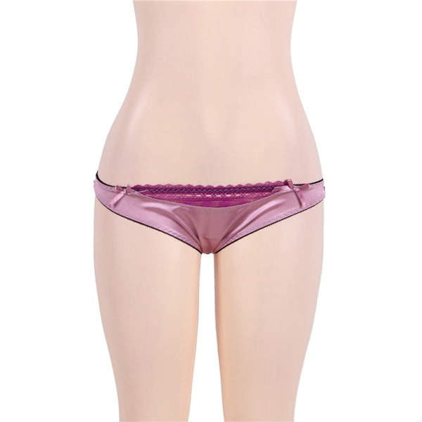 Satin Purple Lingerie Garter Set -  [product_type] - ShaadiMagic