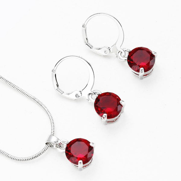 Necklace Crystal Earrings Jewelry Sets -  [product_type] - ShaadiMagic