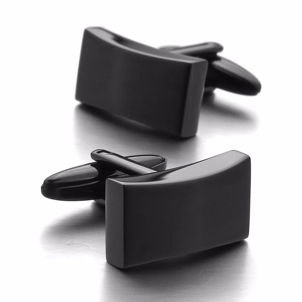 Black & Silver Classic Wedding Cufflinks -  200000175 - ShaadiMagic