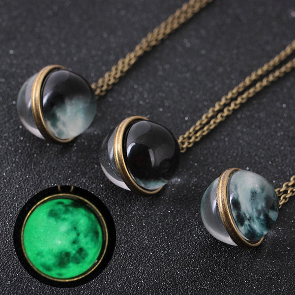 Unique Universe Glass Glow Pendant Necklace