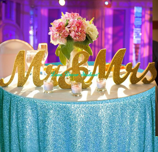 Mr and Mrs Glitter Sign Board